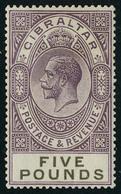 Neuf Avec Charnière N° 90, 5£ Violet Brun Et Noir, Cl, T.B. - Stamps