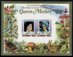 Neuf Sans Charnière 1985, 85è Anniversaire De La Reine-mère Elisabeth, La Série De 34 BF ND, T.B. - Stamps