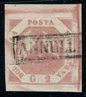 Oblitéré N° 3, 2gr Rose, Variété Sans Le O De Bollo Et DE De Delta, Position 200 De La Feuille T.B. Signé + Certificat D - Stamps