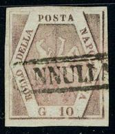Oblitéré N° 5, 10g Rose, Grandes Marges, Superbe, Sassone 10 : 350€ - Stamps