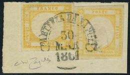 Fragment N° 15 + 16, 10gr + 20gr Faux Pour Servir, 10gr Type I, 20gr Effigie B Sr Fragment.Sassone  F6 + F10 4100 €, Sig - Stamps