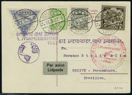Lettre Zeppelin 1 SAF 1932, Pour Le Brésil T.B. - Stamps