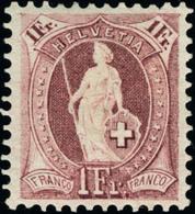 Neuf Avec Charnière N°79. 1f Lilas. Dentelé 11 1/2 X 12. 14 Dents Verticales (SBK 71E : 4250 FS) Superbe Et Rare. Signé  - Stamps