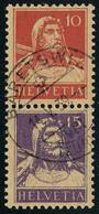 Oblitéré N° 138/41, 10 + 15 Se Tenant Verticalement, Cat. Suisse Z2 : 850 FS - Stamps