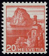 Oblitéré N° 290 + 295, 5c Vert Et 30c Bleu, N° De Roulette Au Verso, T.B. Cat Suisse 330 FS. - Stamps