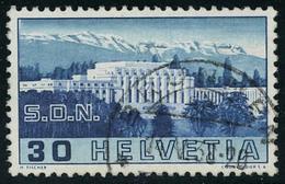 Oblitéré N° 308, 30c SDN Variété Colonne Brisée, Cat Suisse Z12.2.02 T.B. 450 FS - Stamps