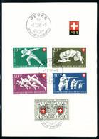 Lettre N° 497/501, 502/06, 507/511, 512/16, Chaque Série Avec Oblitération FDC Sur Feuillet De L'administration Postale, - Stamps