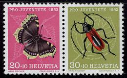 Neuf Sans Charnière N° 541/2, 4 Se Tenant Différents (3 Paires, 1 Bloc De 4), Cat Suisse Z 39, 40, 40, 41/11, Tous T.B.  - Stamps