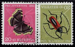 Oblitéré N° 541/2, 20 + 10 Et 30 + 10, 4 Paire Se Tenant Et Tête Bêche Différents, Cat Suisse : 260 - Stamps