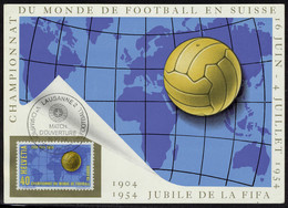 Neuf Sans Charnière N° 547, 40c Championnat Du Monde Football, Sur Carte Maxi Obl. Match D'ouverture 16.VI.54. T.B. - Stamps
