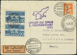 Neuf Sans Charnière Zeppelin 5è SAF 1932 Pour Le Bresil TB - Stamps