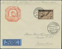 Lettre Zeppelin 9 SAF 1932 Pour Le Bresil Affranchie Avec PA 15b, TB - Stamps