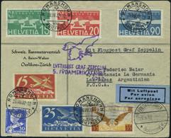 Lettre Zeppelin 5 SAF Pour L' Argentine TB - Stamps