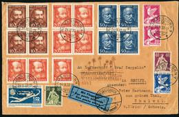 Lettre Zeppelin. 7è SAF 1932. Lettre CàD  Romanshorn 24.IX.32. CàD De Transit Friedrichshafen 26.9.32, Pour Récife Et Re - Stamps