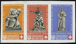 Neuf Sans Charnière N° 5, Fête Nationale, Découpés Du Bloc, Les 5 Combinaisons Différentes, Cat Suisse Z 28/31. FS - Stamps