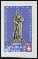 Neuf Sans Charnière N° 5, Les 4 Valeurs Du Bloc Fête Nationale Découpés, T.B. Cat Suisse B 8/11 - Stamps