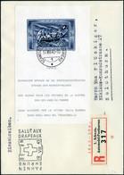 Lettre N° 11, Bloc Pour Les Victimes De Guerre, Obl Du 19/8/45 S/LR Pour La Suisse, TB - Zumstein 440FS - Stamps