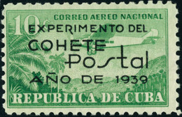 Neuf Avec Charnière N°31. 10c Vert-jaune. Expériences Par Fusée Postale. Cl. T.B. - Stamps