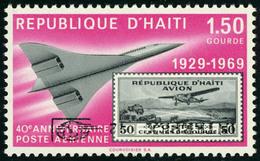 Neuf Sans Charnière N° 488, 1,50 Concorde, Surcharge HAIPEX Renversée, TB - Stamps