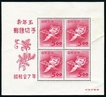 Neuf Avec Charnière N° 28A Et 33A, Les 2 Blocs Nouvel An, Cl En Marge, T.B. - Stamps