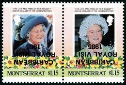 Neuf Sans Charnière N° 583/4, Les 2 Valeurs Se Tenant En Paire Hor, Surcharges Renversées, T.B. - Stamps