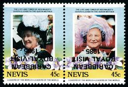 Neuf Sans Charnière N° 343/4, Les 2 Valeurs Se Tenant En Paire Hor. Surcharges Renversées, T.B. - Stamps