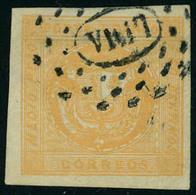 Oblitéré N° 3B, 1/2 P Jaune, Superbe, Signé Brun - Stamps