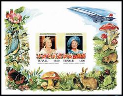 Neuf Sans Charnière N° 13, 85è Anniversaire De La Reine-mère Elisabeth, Bloc Non Dentelé, Concorde Et Thématiques Faune  - Stamps