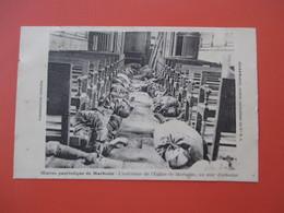 Oeuvre Patriotiques De MARBOTTE L'interieur De L'Eglise De MARBOTTE, Un Soir D'attaque - Guerre 14 / 18 - - Frankrijk