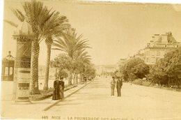 Nice La Promenade Des Anglais 485 GJ Phot Photographie XIXe Excellent état 18x12cm - Fotos
