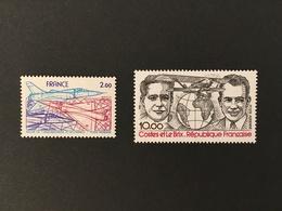 FRANCE Poste Aérienne 1981 - YT N° 54 Et 55 - Neufs Sans Charnière - Poste Aérienne