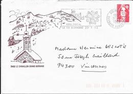 HAUTE SAVOIE 74  -  LE GRAND BORNAND   - FLAMME :  LE GRAND BORNAND 1000 2100M     -  1992-     - - Marcofilia (sobres)