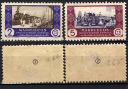 MAROCCO SPAGNOLO -  1948 - Commerce  By Railroad And By Truck - MH - Marocco Spagnolo