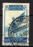 MAROCCO SPAGNOLO -  1937 - Soldato Con Bandiera - USATO - Marocco Spagnolo