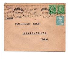 AFFRANCHISSEMENT COMPOSE SUR LETTRE DE TOURCOING 1949 - Marcophilie (Lettres)