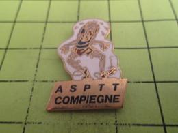 416a Pin's Pins / Beau Et Rare : THEME : SPORTS / ATHLETISME ASPTT COMPIEGNE COUREUR EPUISE - Athletics