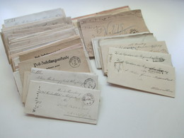 AD Bayern - DR 1809 - 1920er Jahre! Dienstbriefe / Amtsbriefe Markenlos. Viel Mit Inhalt. Farbige Stempel. 100 Stk - Briefmarken