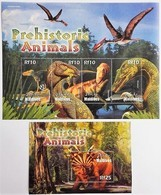 Maldives 2005**Mi.4449-52 + Bl.590. Prehistoric Animals, MNH [16;42] - Preistorici