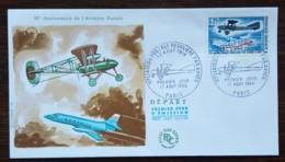 FDC 1968 - YT N°1565 - 1ère LIAISON POSTALE REGULIERE PAR AVION - PARIS - FDC