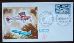 FDC 1968 - YT N°1565 - 1ère LIAISON POSTALE REGULIERE PAR AVION - SAINT NAZAIRE - FDC
