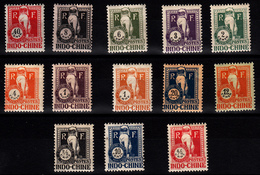 INDOCHINE - TAXE N° 31/43* - SERIE COMPLETE DE 1922. - Indochine (1889-1945)