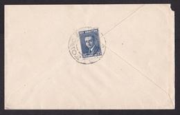 Albania: Cover To USA, 1927, 1 Stamp, Cancel Korce, Rare (minor Damage, See Scan) - Albania