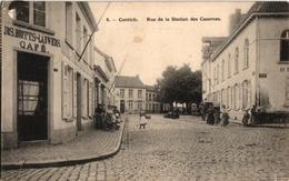1 Postkaart Kontich Contich  Rue De La Station Des Casernes  Magdalenastr.Café Jos Bootts Lauwers - Kontich