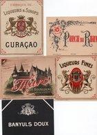 96Hs  Lot (N°3) De 5 Etiquettes Vin Liqueur Punch Marc Créme - Etiketten