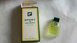 """Miniature De Parfum Paco Rabanne   """"  Sport  """" Eau De Toilette - Miniaturen Flesjes Heer (met Doos)"""