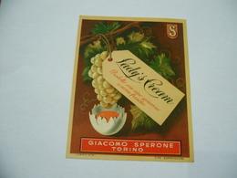 ETICHETTA PUBBLICITARIA LADY S CREAM GIACOMO SPERONE TORINO - Alcolici