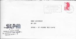 SARTHE 72 -  LE MANS  -  FLAMME : LES CENMANIES FETENT LE BICENTENAIRE 1 2JUILLET 1989 72 LE MANS - 1989-  THEME ANNIVER - Postmark Collection (Covers)