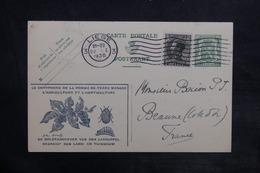 BELGIQUE - Entier Postal Illustré ( Doryphore ) + Complément De Liege Pour La France En 1936 - L 36157 - Entiers Postaux