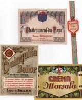 96Hs  Lot (N°7) De 5 Etiquettes Vin Liqueur Quinquina Créme - Etiketten
