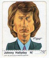 AUTOCOLLANT . STICKER . 1974 . JOHNNY HALLYDAY .  CARICATURE . CLARK . - Autocollants